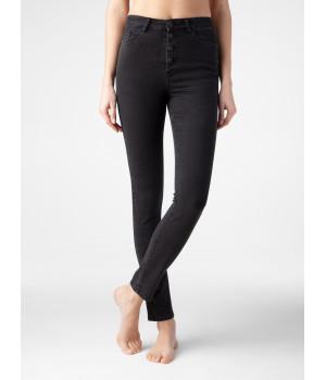 Брюки джинсовые женскийCE CON-286, стр.170-98, мытый черный