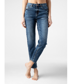 Брюки джинсовые женскийCE CON-281, стр.170-94, аутентичный синий