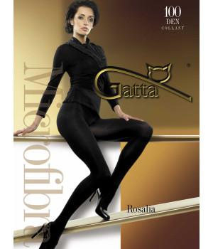 Плотные женские колготки GATTA Rosalia 100 den, 2, grafit(серый)