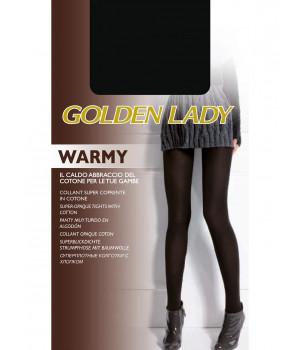 Колготки тёплые с хлопком GOLDEN LADY Warmy, 2, biscotto(бежевый)