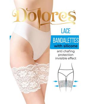 Защитная кружевная полоса DOLORES Lace Bandalettes with silicone, 2XL, ecru(молочный)