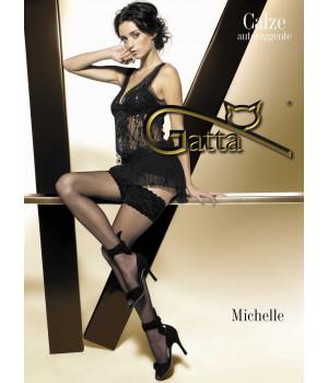 Чулки женские GATTA Michelle 01, 1/2, bianco(белый)