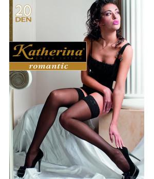 Чулки Katherina romantic 20 den, 2/3, antylopa(темный загар)