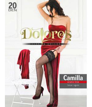 Чулки под пояс DOLORES Camilla 20 erotic line, 1/2, red(красный)