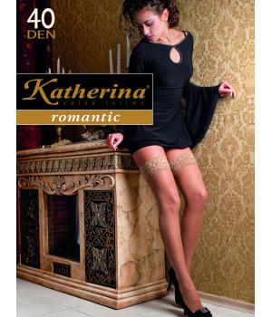 Чулки Katherina romantic 40 den, 2/3, bianco(белый)