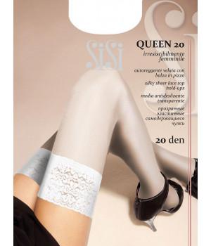 Чулки женские SISI Queen 20, 2, avorio(молочный)