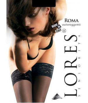 Чулки женские LORES Roma 15 autoreggentе, 1/2, bianco(белый)