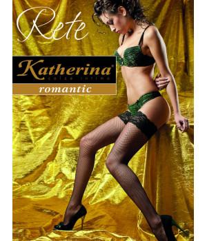 Чулки женские в среднюю сетку Katherina Rete Calze, 2/3, bianco(белый)