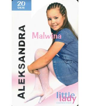 Детские узорчатые колготки Aleksandra Malwina Арт.: 9878, 4, White