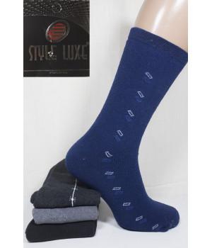 Махровые мужские носки полушерстяные Ф8 STYLE LUXE высокие Арт.: 0443 / 0321 / Упаковка 12 пар /, 39-41, Ассорти цветов