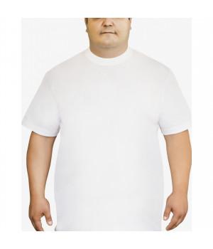 Мужская футболка Oztas A-1038 батал, 5XL, Черный