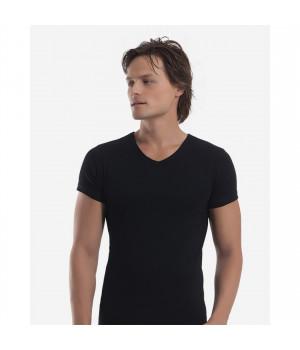 Мужская футболка Oztas A-1061, XL, Черный
