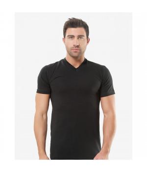 Мужская футболка Oztas A-1017, XL, Черный