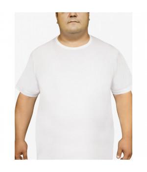 Мужская футболка Oztas A-1037 батал, 5XL, Черный