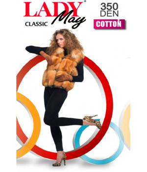 Леггинсы женские LADY MAY Cotton 350 leggins, 2, Черный