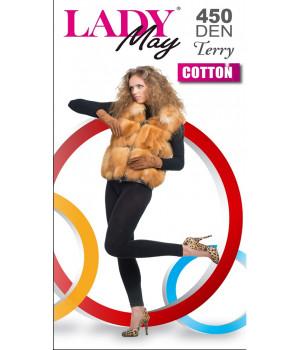 Леггинсы женские махровые LADY MAY Cotton Terry 450 leggins, 4, Черный