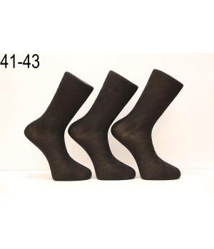 Стрейчевые шелковые мужские носки DILEK высокие Арт.: 03-10003 / Упаковка 12 пар /, 39-42, Белый