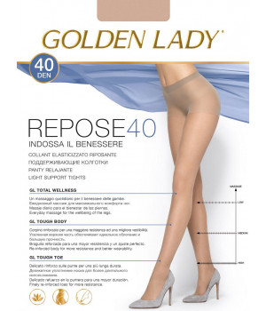 Колготки поддерживающие GOLDEN LADY Repose 40, 5, nero(чёрный)
