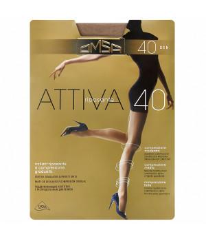 Колготки женские поддерживающие OMSA Attiva 40, 5, marrone(насыщенный шоколад)