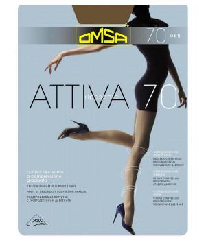 Колготки женские поддерживающие OMSA Attiva 70, 5, nero(чёрный)