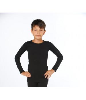 Детская футболка с длинным рукавом Sevim Арт:7078, , Черный