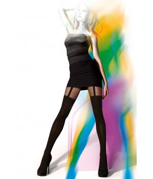 Колготки с имитацией чулок GATTA Girl-Up 01, 4, nero(чёрный)