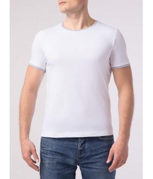 Фуфайка муж. DW BASIC MF 746, р.170,176-100, белый-серый