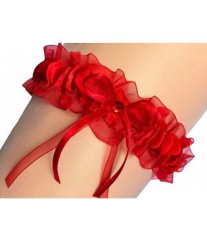 Подвязка MAR-KO INES RUBIN uniwersalny czerwony