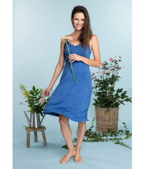 Женская ночная сорочка KEY LND-540 A20 S niebieski ciemny