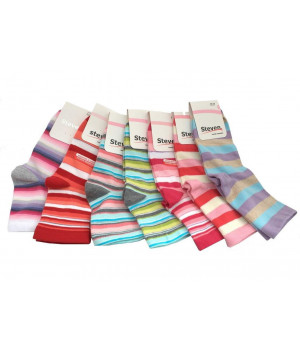Носки STEVEN 037 STRIPES 35-37 цветовой микс
