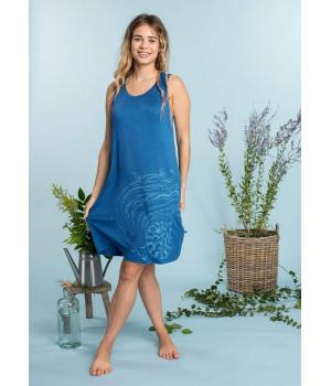 Женская ночная сорочка KEY LND-711 A20 S niebieski ciemny