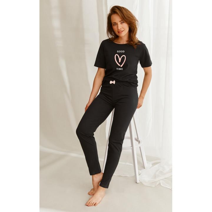 Пижама TARO 2582 NELLY AW22 XL черный