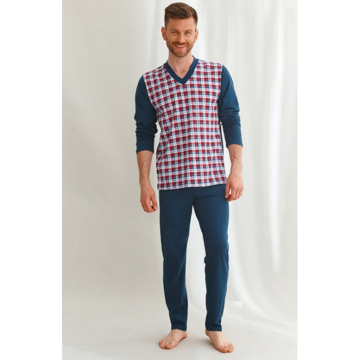 Пижама TARO 2634 VICTOR AW22 5XL темно-синяя