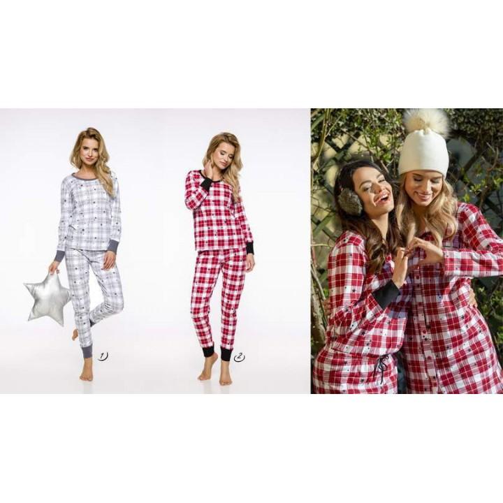 Женская клетчатая пижама с манжетами Taro 791 Koko