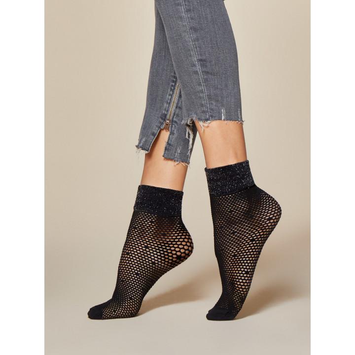 Женские ажурные носочки с люрексом Fiore Putini