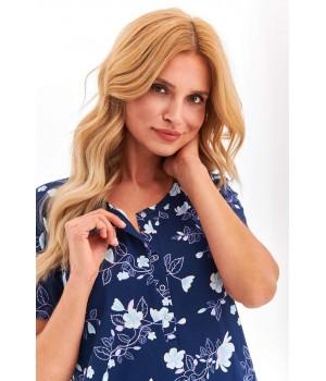 Женская ночная сорочка с декольте на кнопках Taro 2368 Rosa S-XL