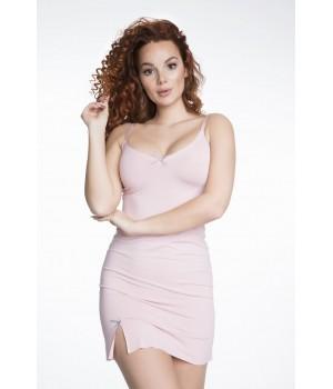 Женская короткая ночная сорочка/комбинация с разрезом Julimex SWEET DREAM