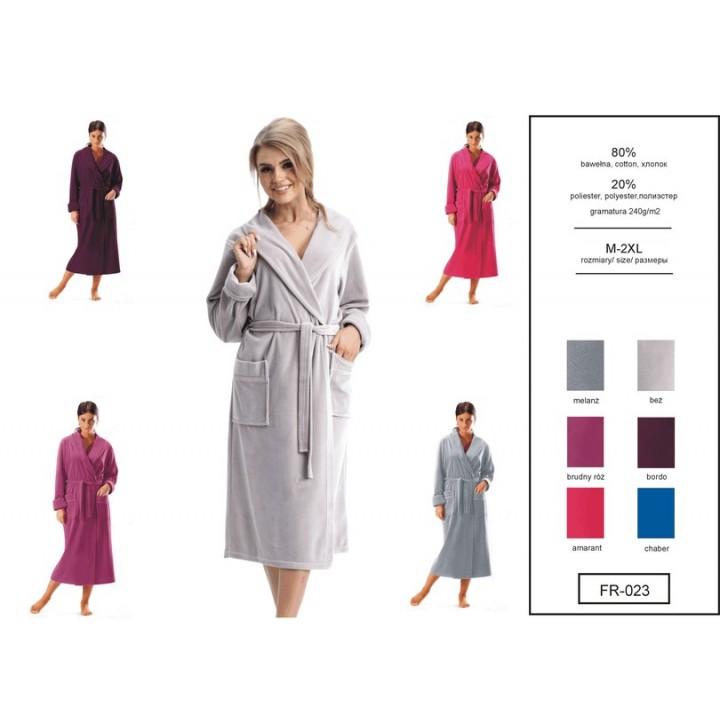 Женский длинный велюровый халат Dorota FR-023