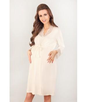 Кружевной халат для беременных и кормящих женщин Lupoline 3023