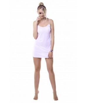 Женская короткая сорочка/комбинация из мягкой вискозы Mewa 86118 Ofelia (79-89 см)
