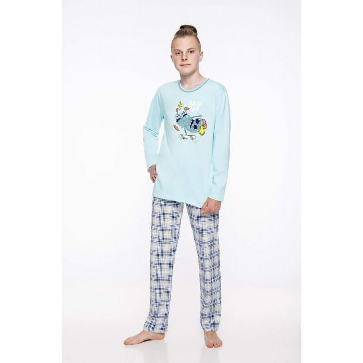 Модная хлопковая пижама для мальчика Taro 2339 Leo