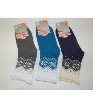 Носки махровые женские с рисунком