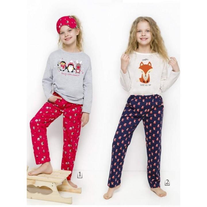 Хлопковая пижама для девочки Taro 2129 Sofia 104-140