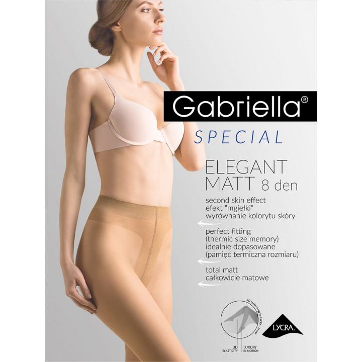 Женские тонкие матовые колготы с широким поясом Gabriella Matt 8 den