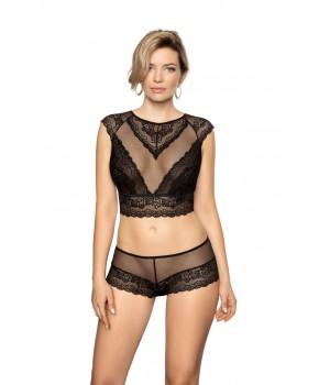 Женские прозрачные трусики шорты из тонкого кружева Roza Ellba
