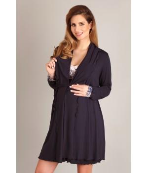 Женский легкий халат из мягкой вискозы для беременных Lupoline 1677 MK