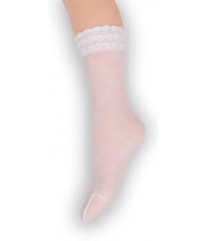 Носки капроновые для девочек жаккардовые Anna
