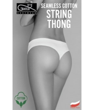 Женские хлопковые трусики стринги Gatta Seamless Cotton String
