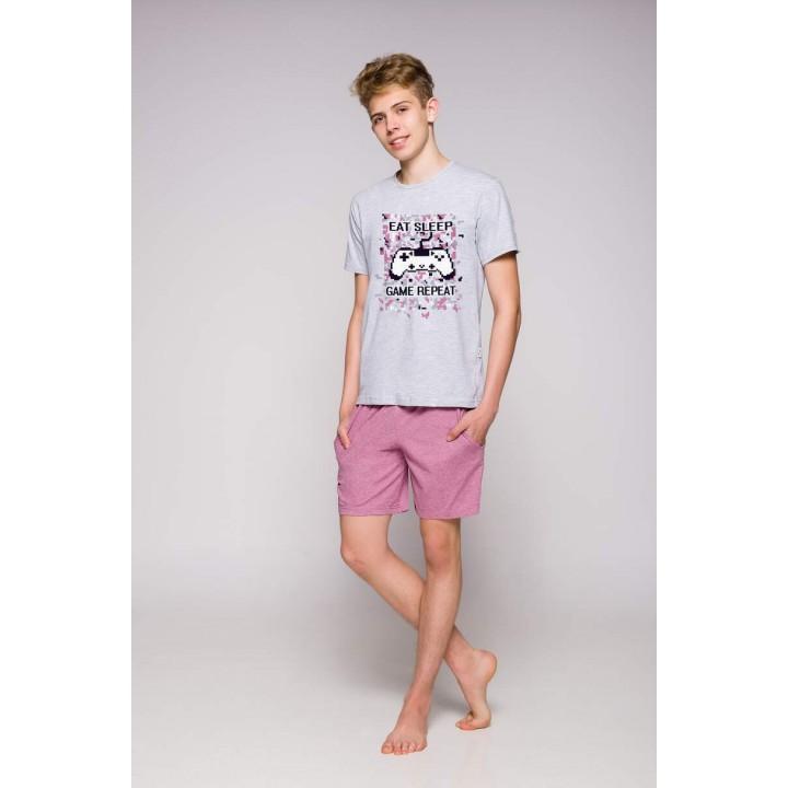 Домашний комплект/ пижама для юноши c ярким принтом Taro 1109 Karol 146-158