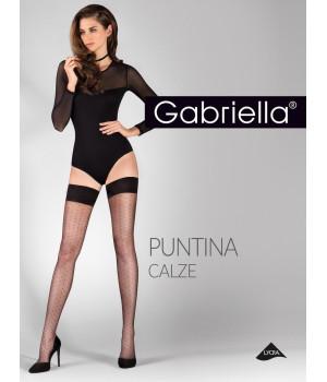 Женские тонкие чулки в мелкий горошек Gabriella Puntina